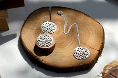 Flower Of Life Silver Yin Yang Necklace Sacred by TzufitMoshel