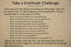 ...Gratitude Challenge