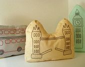 London Tower Bridge pillow by A Little World