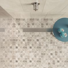 Shower with mosaic floor - Mosaic Tiles, Wall Lights, Sweet Home, Flooring, Shower, Interior, Fuge, Home Decor, Architecture