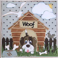 Dog Cards, Kids Cards, Dog Died, Birthday Cards For Boys, Elizabeth Craft, Marianne Design, Animal Cards, Hobbies And Crafts, Paper Piecing