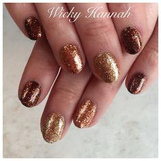 Golden Brown glitter Gel Polish  #wickyhannah #glittergelpolish #purpleglitter