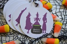 A personal favorite from my Etsy shop https://www.etsy.com/listing/477662345/the-halloween-collection-gift-tags-hocus