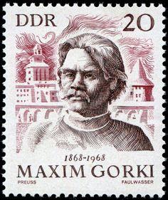 Alemania (DDR) 1968 - Máximo Gorki novelista y dramaturgo ruso, maestro del realismo y considerado una de las personalidades más relevantes de la cultura y de la literatura de su país.