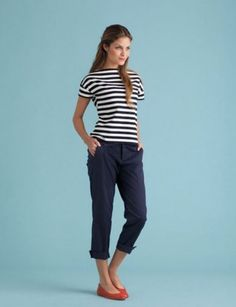 Wear it on weekends.    A Breton striped top, cropped trousers, little flats: It's your Breathless moment.