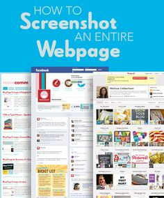 How to Screenshot an Entire Webpage