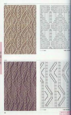 Photo from album Knitting Patterns on Yandex. Lace Knitting Stitches, Cable Knitting, Knitting Books, Knitting Charts, Knitting Designs, Stitch Patterns, Knitting Patterns, Crochet Patterns, Filet Crochet