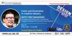 Comic and Ilustration in Creative Industry present by VCD-UC and Tony Masdiono