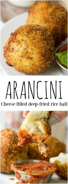 This Arancini stuffed with cheese and bacon I'd just the wa… Craving Italian? This Arancini stuffed with cheese and bacon I'd just the way to go! Italian Appetizers, Appetizer Recipes, Dinner Recipes, Cold Appetizers, Yummy Recipes, Healthy Recipes, Italian Dishes, Italian Recipes, Italian Bread