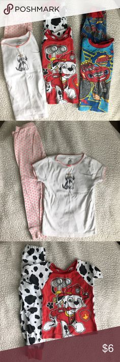Summer Pajamas (3 sets) Nickelodeon and Carters summer pajama sets, size 4T. Used condition, well worn but no tears or stains. If not purchased I will donate. Pajamas Pajama Sets