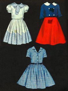 Vintage 1958 Milton Bradley Paper Doll Magnetic by EvelynnsAlcove