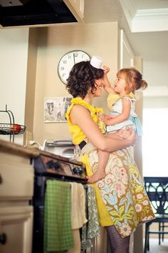Would love to do a mommy/daddy and me cooking shoot. So adorable.