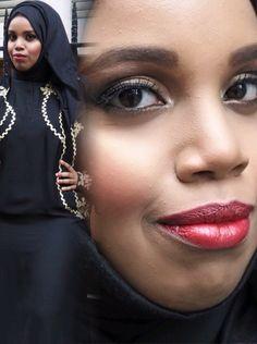 Gold smokey eye on Somalian Beauty