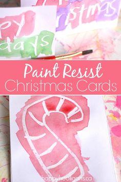 Wax Resist Christmas Cards - Happy Hooligans