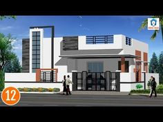 Individual houses modern front elevations || single floor home designs || House Elevations - 02 - YouTube