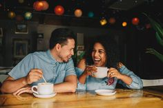 Los Vargas Photo <3 - Coffeshop Romance - Cafe / Coffee Shop Engagement Pictures Session - Cute Mixed Latino Couple - Rainy Day Couple - Smiles and Coffee Love - Indoors Engagement Shoot - Stardust Coffee in Orlando, FL - Central Florida Orlando Engagement Photography Photographers - Hipster Engagement Outfits - Pantone Indoors Modern