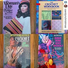 Had to share this awesomeness! Repost from @carolynchristmas - vintage #crochet books
