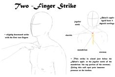 two-finger strike to the jugular notch