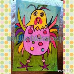 Funky Chicken art for sale Painting For Kids, Art For Kids, Little Red Hen, Chicken Art, Art For Sale, Kids Learning, Art Lessons, Arts And Crafts, Eggs
