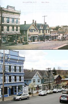 Then & now -Main Street, Millerton, NY