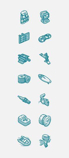 Vodnik - Icon set on Behance