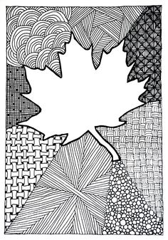 Zentangle #97 - Maple-leaf Card | by hilda_r