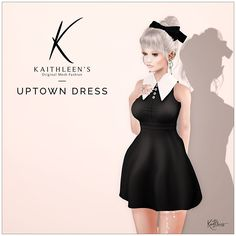 https://flic.kr/p/UAhVLR | Kaithleen's Uptown Dress | Hi guys,  Are you ready for another new release ?  Kaithleen's Uptown Dress for The Chapter Four  - 100% original mesh - Maitreya Lara, Belleza Freya-Isis and Venus, Slink body  Take taxi and check this out :  maps.secondlife.com/secondlife/Dreamlove/121/132/1236