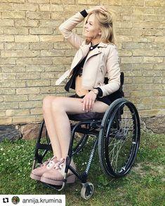 #LifeGoesOnWheels 💃🔄 @annija.krumina #WheelchairGirl #WheelchairLife #Wheelchair #Girl #Photography #Beautiful #Girls #Fashion #Cute #Love #Mak by lifegoesonwheels Beautiful Young Lady, Beautiful Women, Spinal Cord, Fashion Outfits, Womens Fashion, Quadriplegic, Manual Wheelchair, Wheels, Confidence Boost