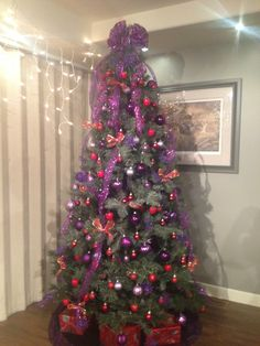#purple and red #christmas tree #holiday