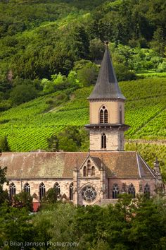Presbytere Catholique Church, Ribeauville, Alsace France © Brian Jannsen Photography
