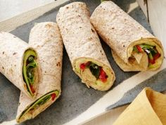 Find all the best Toasted Sandwich - Wrap recipes on Food Network. We've got more toasted sandwich dishes, recipes and ideas than you can dream of! Wrap Recipes, Other Recipes, Lunch Recipes, Vegetarian Recipes, Cooking Recipes, Healthy Recipes, Healthy Dinners, Vegetarian Sandwiches, Going Vegetarian