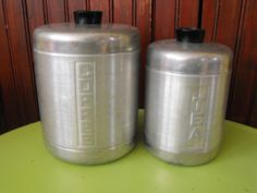 Vintage Century Aluminum Ware Tea and Coffee Canisters via Etsy.