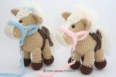 Adorable Crocheted horses