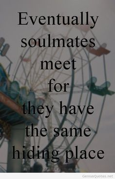 Soulmates hd wallpaper quote