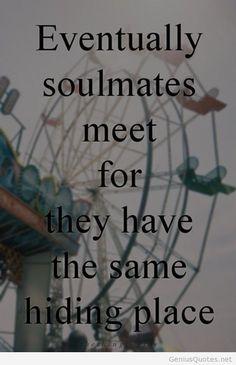 Soulmates hd wallpaper quote