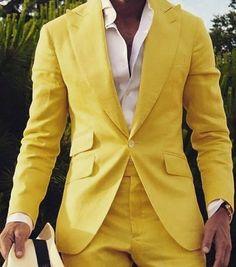 Peaked Lapel Grey Men Suits for Wedding Slim Fit Suits Man Blazers Groom Tuxedo Costume Homme Terno Masculino Prom Suit Groomsmen Suits, Mens Suits, Beach Wedding Suits, Wedding Groom, Wedding Tuxedos, Dress Wedding, Smoking, Yellow Suit, Neon Yellow