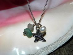 Beachy Charm Necklace, $13.00 Perfect bridesmaid gift for beachy weddings!