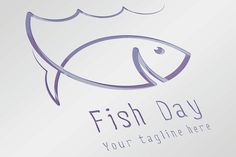 Fish Day Logo by Infographic paradise on Creative Market