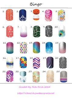 Jamberry Fall/Winter 2014 bingo game