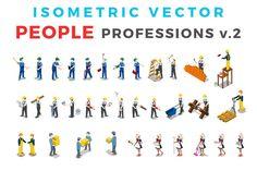 Vector Professions People Isometric by Sentavio on @creativemarket