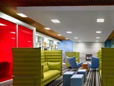 What A Nice Progressive Place To Work   Great Collaboration Space. I Like  The Ceiling · Commercial Interior DesignOffice Interior DesignCommercial ...
