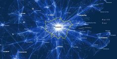 Depiction of daily commutes into London (source: 2011 Census, ONS), copyright - London: The Information Capital by James Cheshire and Oliver Uberti, Source: http://www.bbc.co.uk/news/magazine-29915801
