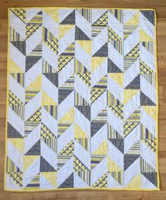 Herringbone Half Square Triangle Baby Quilt — Carrie Actually by Carrie Merrell Quilt Baby, Boy Quilts, Scrappy Quilts, Triangle Quilt Pattern, Half Square Triangle Quilts, Square Quilt, Quilting Projects, Quilting Designs, Herringbone Quilt