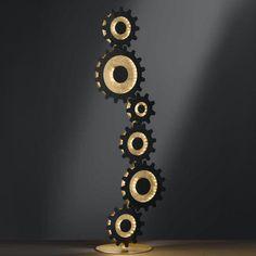 Φωτιστικό LED με έντονο χαρακτήρα και φωτοσκίαση! Εκπληκτικό! Decoration, Wall Lights, Gold, Leroy Merlin, Products, Industrial, Law, Led Floor Lamp, First Aid
