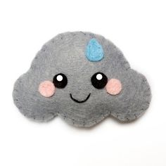 Rain Cloud Felt Brooch