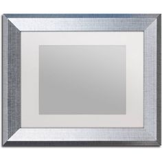 trademark fine art heavy duty 11x14 silver picture frame with 8x10 white mat
