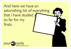 And a list of all the work that I have completed that is due in the next week...