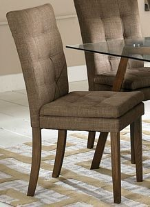 Maitland Brown Fabric Natural Dining Side Chair Set of 2
