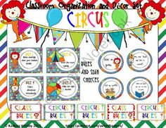 Cassroom Decor Set Circus theme 341 pages !!! from Kadeen Whitby Shop on TeachersNotebook.com (341 pages)