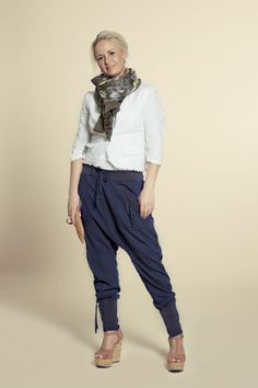 Kalhoty Nanna Dark Blue | Bella Rose